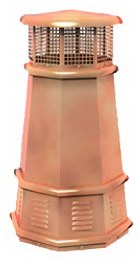 Old Smokey's King copper european chimney pots
